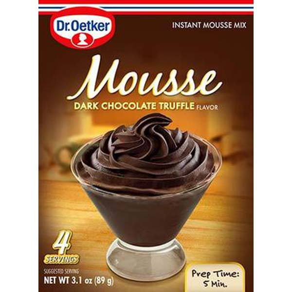 Dr. Oetker Dark Chocolate Truffle Mousse 3.1 oz Boxes Pack of 6 by