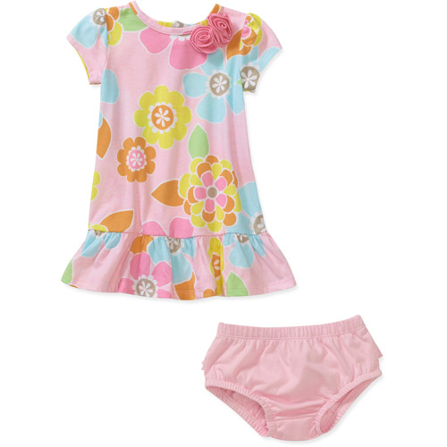 Child of Mine by Carters Newborn Girls' 2-Piece Floral Dress and Bloomer Set