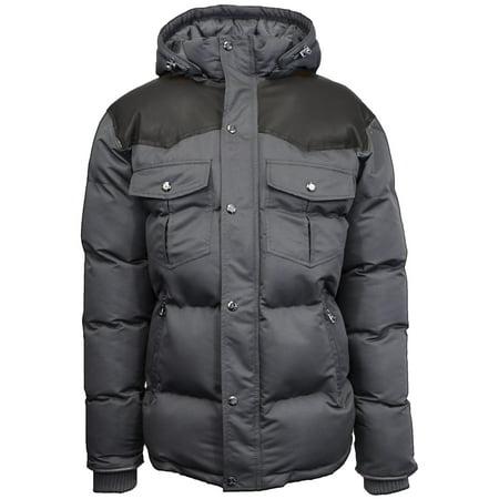 - Men's Heavyweight Western Bomber Jacket With Detachable Hood
