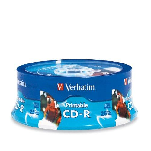 Verbatim 52x Cd-r Media - 700mb - 120mm Standard - 25 Pack Spindle (96189)