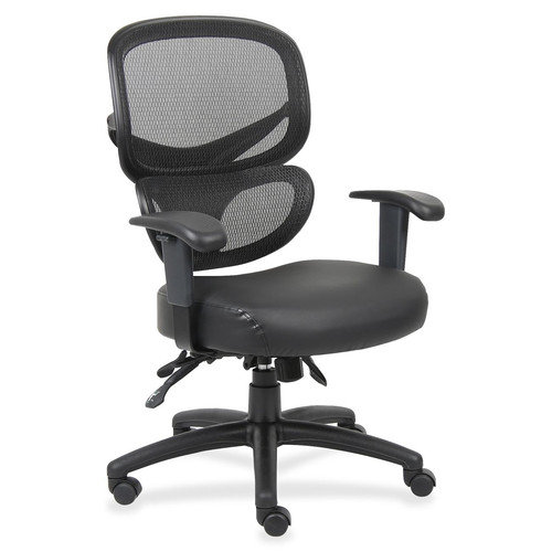 Lorell Mid-Back Mesh Leather Conference Chair