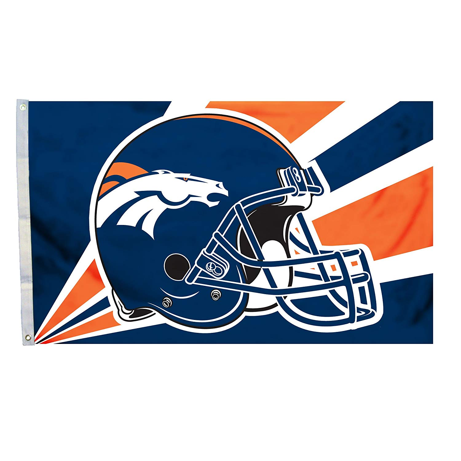 NFL Denver Broncos 3-by-5 Foot Helmet Flag, Licensed NFL Product By Fremont Die