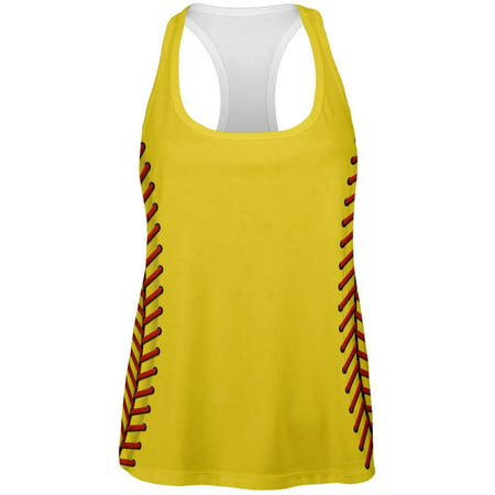 Softball Costume All Over Womens Work Out Tank Top (Ladies Halloween Costumes 30 And Over)