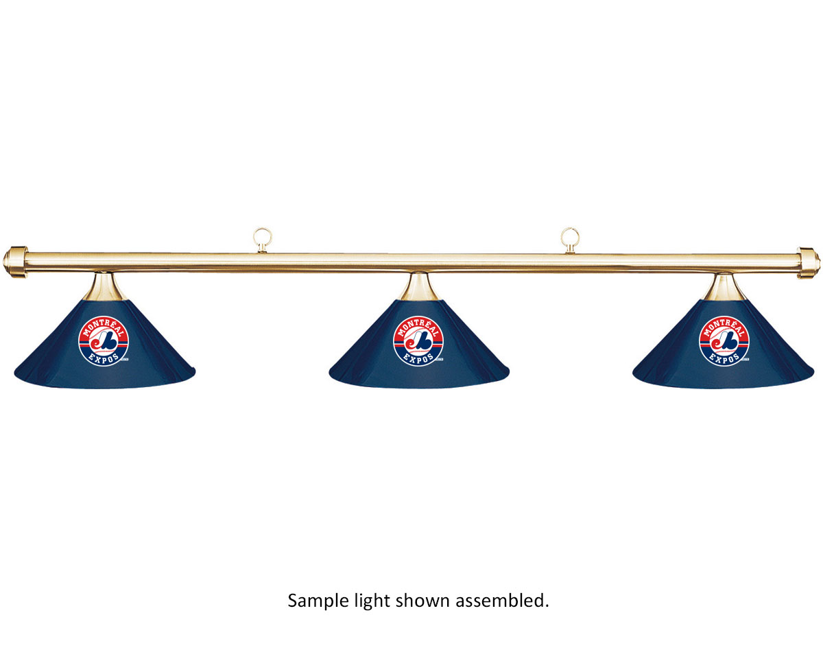 MLB Montreal Expos Blue Metal Shade & Brass Bar Billiard Pool Table Light by Imperial International