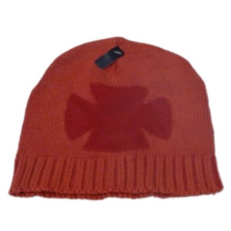 Baileys Point Red Cross Knit Beanie Winter Hat Stocking Cap Skull
