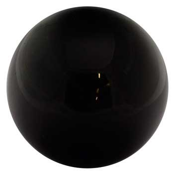 Party Games Accessories Halloween Séance Crystal Balls Divination Tool See The Future 50mm Black Obsidian 2