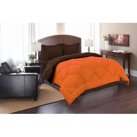 Reversible Bedding ComforterKing/Cal King, Orange/Chocolate ()