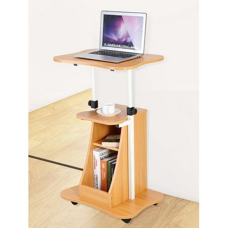 Height Adjustable Standing Computer Desk Laptop Cart