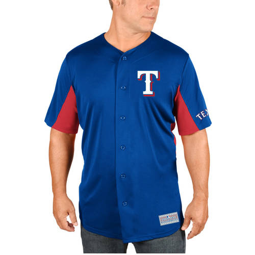 MLB Texas Rangers Adrian Beltre Men's Short Sleeve Button Jersey