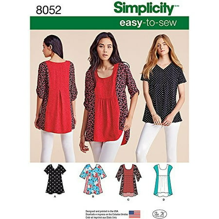Cover Sewing Pattern (Simplicity Misses' Size XXS-XXL Easy-To-Sew Tops Pattern, 1)