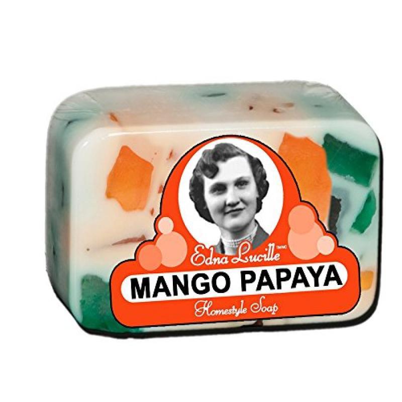 Edna Lucille Mango Papaya Homestyle Soap 6.5 Oz Bar
