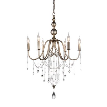 Crystal World Pembina 6 Light Candle Style Chandelier