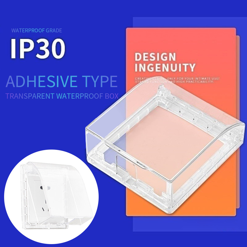 Transparent White XILOSIN 1 pcs Waterproof Box Switch Socket Face Plate Panel Box use for 86 Type Wall,