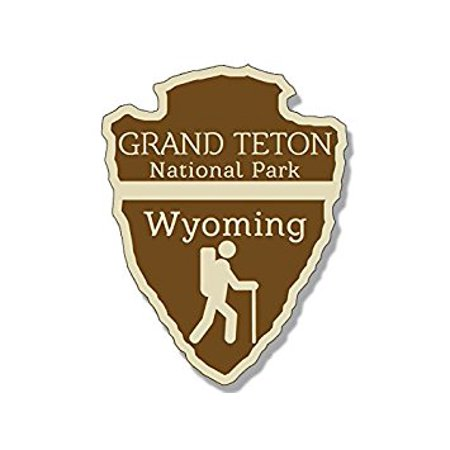 Arrowhead Shaped GRAND TETON National Park Sticker Decal (rv hiking camping) 3 x 4 inch ()