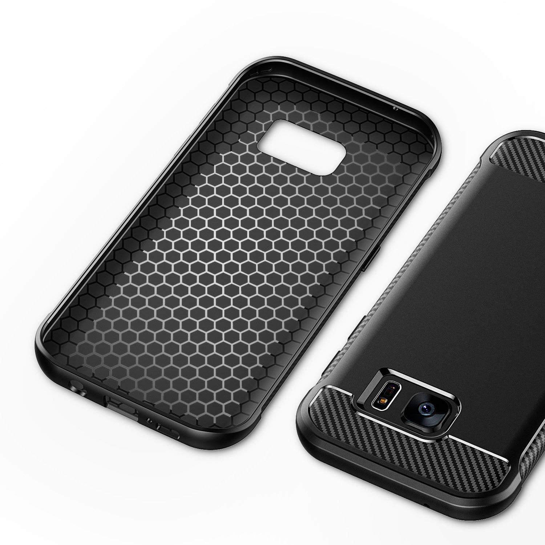 34e73847c06a JETech Super Protective Samsung Galaxy S7 edge Case with Shock Absorption  and Carbon Fiber Design - Walmart.com