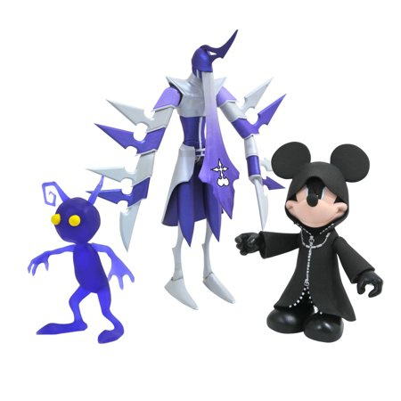 Diamond Select Toys Kingdom Hearts Select Series 3 Mickey, Assassin & Purple Shadow Action Figures