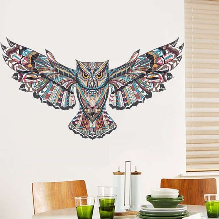 Creative Large Owl Removable Wall Sticker Art Vinyl Decal Mural Home Bedroom Decor - image 3 de 5