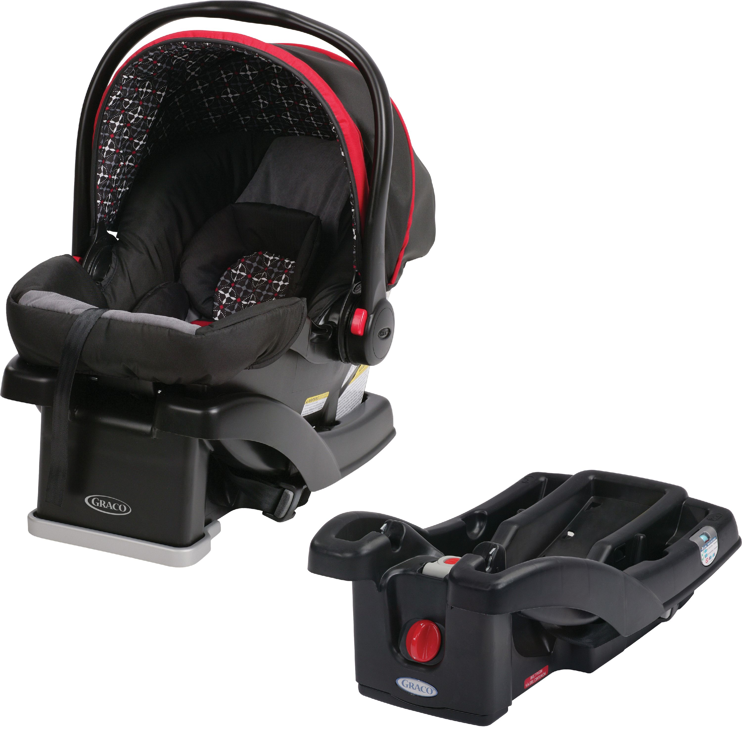 Graco SnugRide Click Connect 30 LX Infant Car Seat, Choose Your Color, WITH SnugRider Stroller Frame