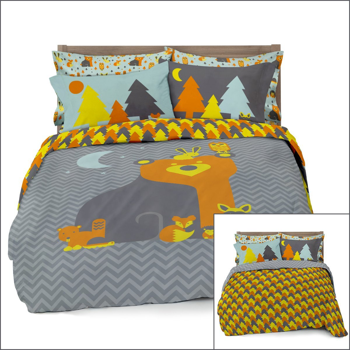 Where The Polka Dots Roam Duvet Cover Kids Bedding Reversible with Pillowcases - Various Print Designs - Full Queen and Twin Size