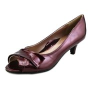 Soft Style by Hush Puppies Aubrey Women N/S Open-Toe Synthetic Burgundy Heels