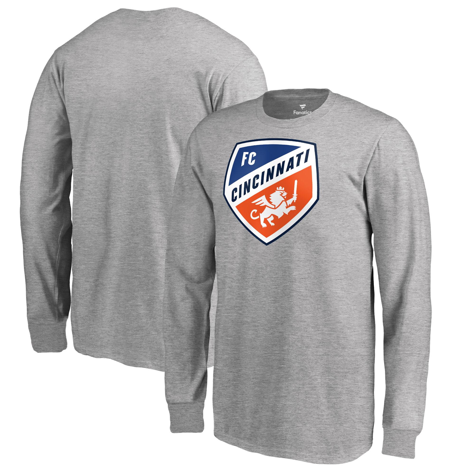 FC Cincinnati Fanatics Branded Youth Primary Logo Long Sleeve T-Shirt - Heather Gray