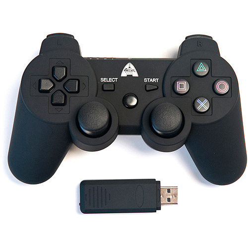 Arsenal Gaming PS3 Rubberized Wireless Controller, Black