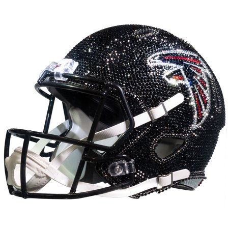 Atlanta Falcons Rocks - Atlanta Falcons Swarovski Crystal Large Football Helmet - No Size