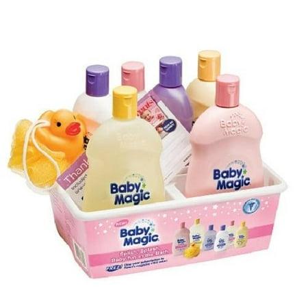 Baby Magic Splish Splash Caddy Kit Original Wash Soft Cotton Wash Original Lotion