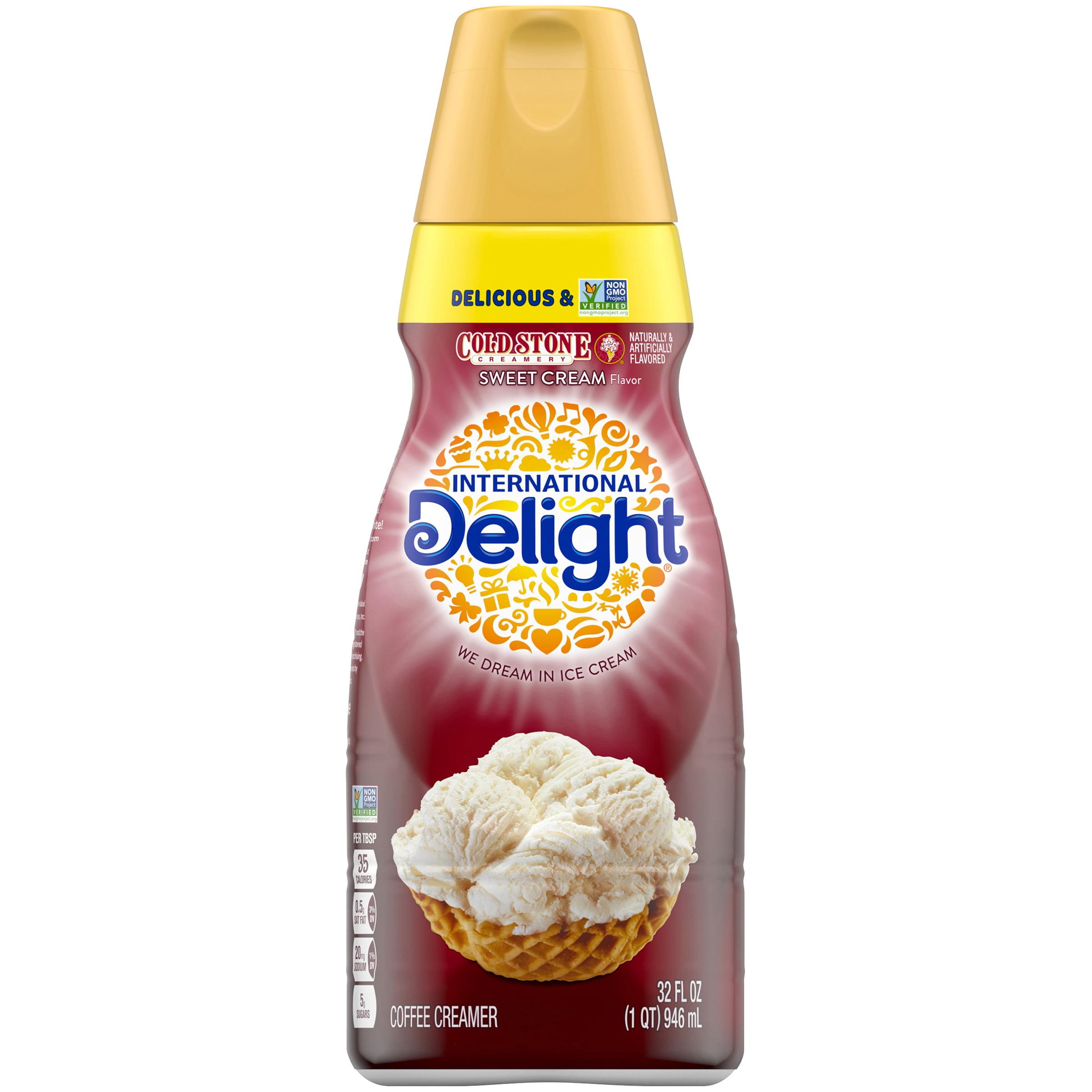 International Delight Cold Stone Creamery Sweet Cream Coffee Creamer 32 Oz Walmart Com Walmart Com