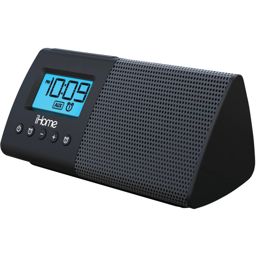 iHome Ihm46bc Portable USB Charging Dual-Alarm Clock Speaker System