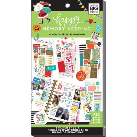 Happy Planner Sticker Value Pack-Seasons & Holidays, 738/Pkg (Happy Mothers Day Stickers)
