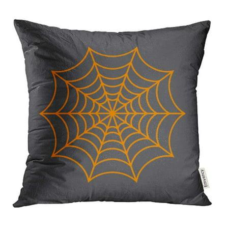 ARHOME Black Halloween Spider Network Cobweb Arachnid Clip Creepy Danger Dangerous Pillow Case Pillow Cover 16x16 inch Throw Pillow Covers - Microsoft Clip Art Halloween