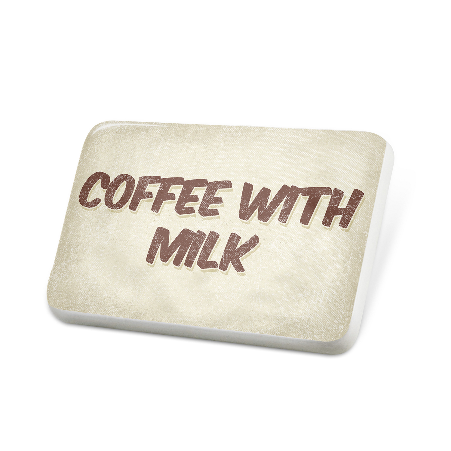 Porcelein Pin Coffee with milk Coffee, Vintage style Lapel Badge – NEONBLOND
