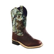 Old West Jama Corporation Boys  Thunder Rust Cowboy Boots
