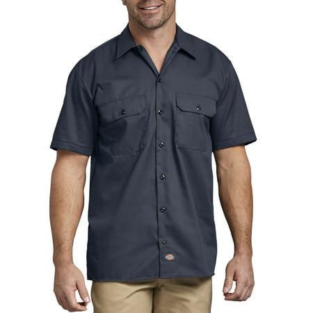 10a984cf Dickies - Men's Short Sleeve Twill Work Shirt - Walmart.com