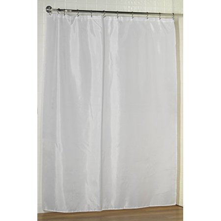 Royal Bath Extra Long Water Repellant Fabric Shower Curtain Liner With Weighted Hem 70 X 84