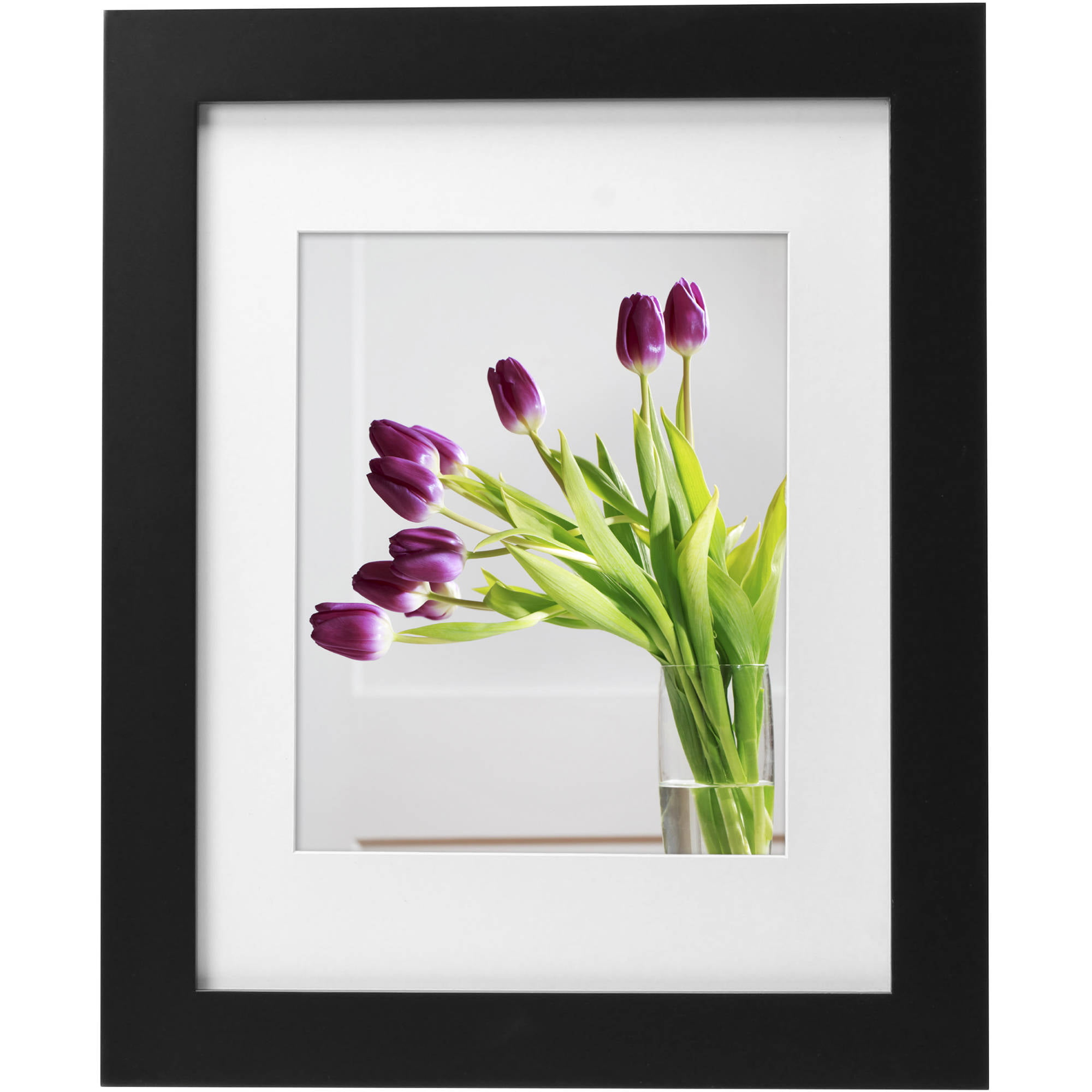 """Mainstays Museum 11"""" x 14"""" Matted to 8"""" x 10"""" Picture Frame, Black by Uniek"""