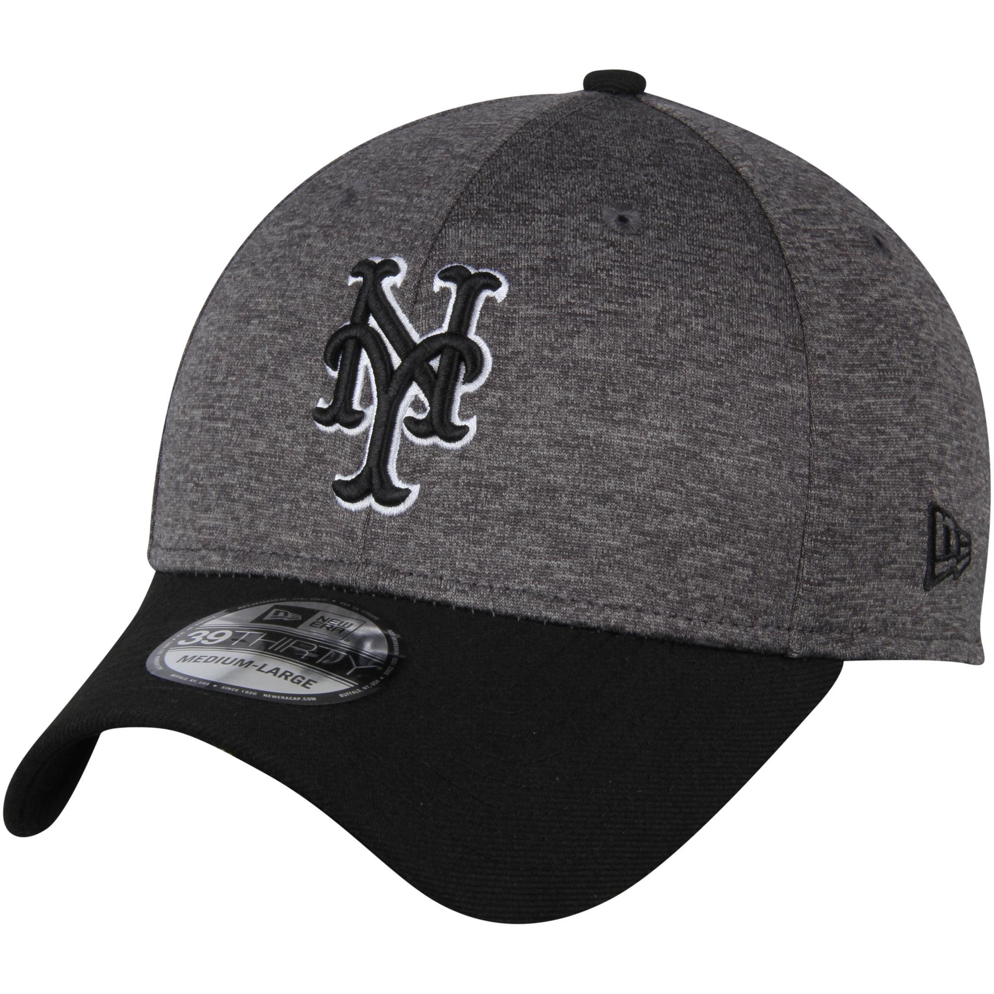 New York Mets New Era Shadow Tech 39THIRTY Flex Hat - Heathered Gray/Black - M/L