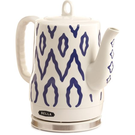 Bella Ceramic Kettle, Blue Aztec