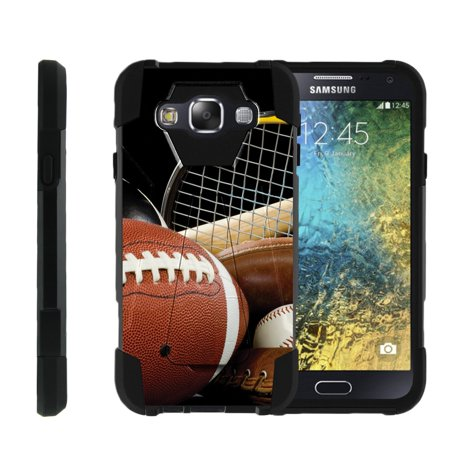 TurtleArmor ® | For Samsung Galaxy E5 E500 [Dynamic Shell] Dual Layer Hybrid Silicone Hard Shell Kickstand Case - Athletic Player](Athlete Prayer)