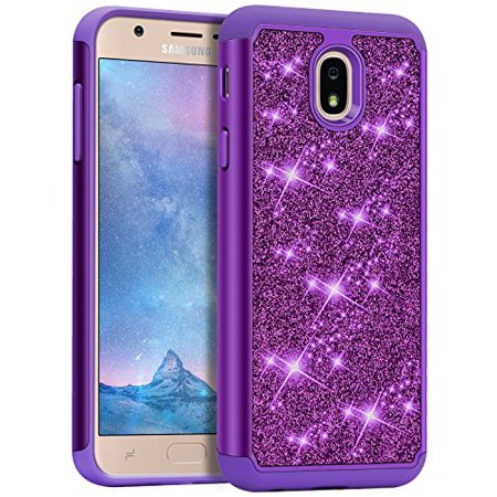 best loved c678e 4e935 J&D Case Compatible for Galaxy J3 2018/J3 V 3rd Gen/J3 Achieve/J3 Star/Amp  Prime 3 Case, Sparkling [Glittering] [ArmorBox] [Dual Layer] shockproof ...
