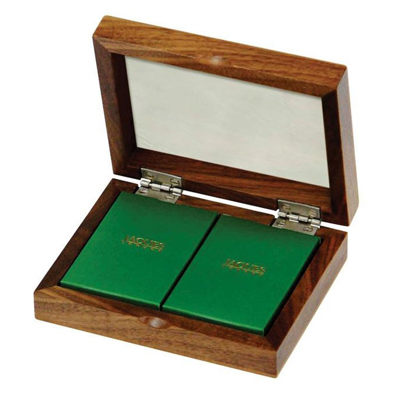 Jaques Twin Pack Cards in Walnut Case