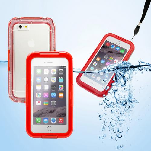 """GEARONIC Waterproof Shockproof Dirt Snow Proof Durable Touch Screen Case Cover for Apple  4.7"""" iPhone 6 - Red"""