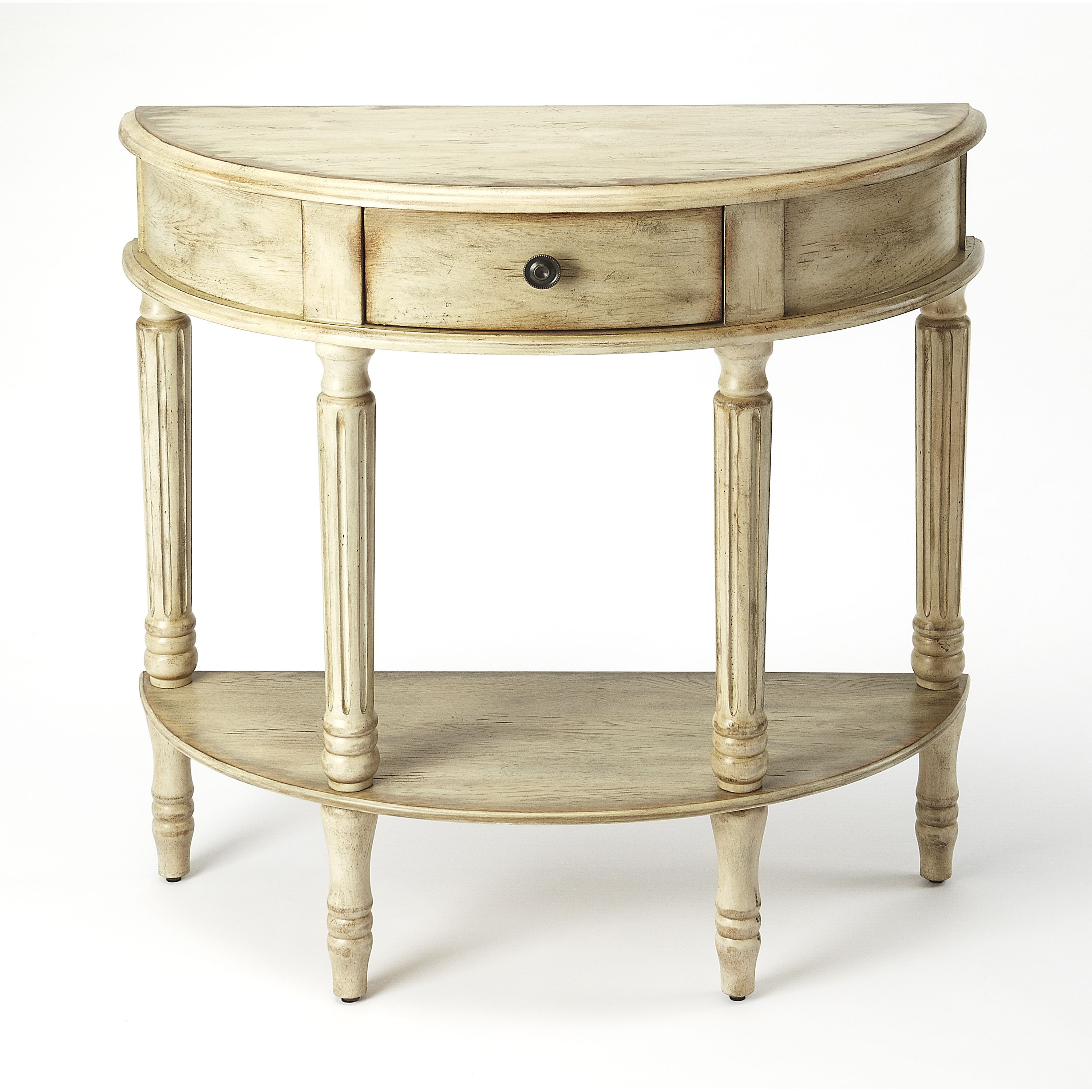 Butler Mozart Chateau Gray Demilune Console Table