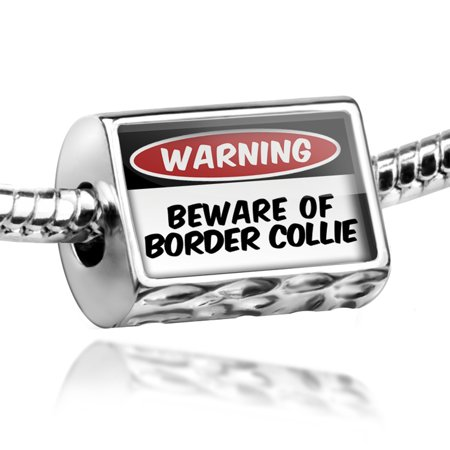 Scottish Border Collie - Bead Beware of the Border Collie Dog from Scotland, England, Wales Charm Fits All European Bracelets