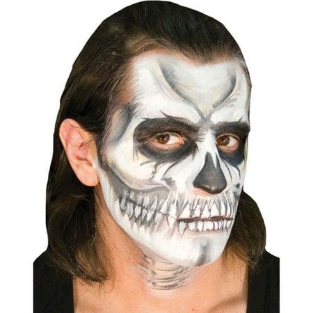 Morris Costumes Voo Doo Skull Ez Sponge Puff Powder Brush Makeup Kit, Style CSEZMU008 - Skull Makeup Male