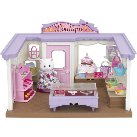 Calico Critters Boutique Playset with Cecilia Persian Cat