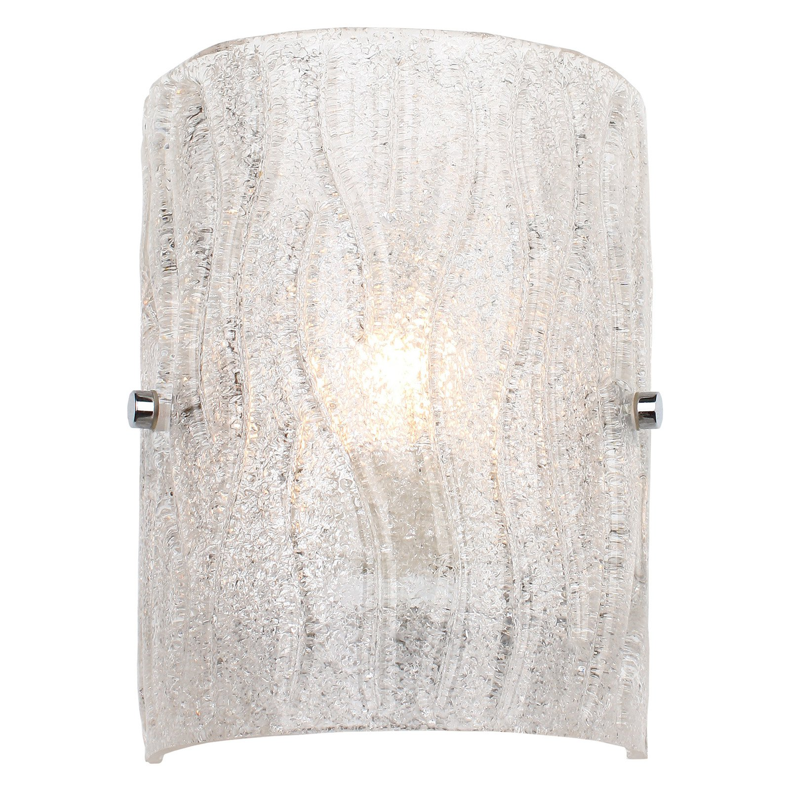 Varaluz Brilliance 1-Light Wall Sconce - 6.75W in. Chrome
