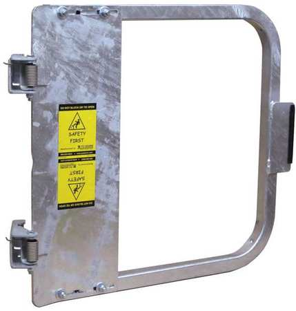PS DOORS LSG-24-GAL Safety Gate, 22-3/4 to 26-1/2 In, Steel