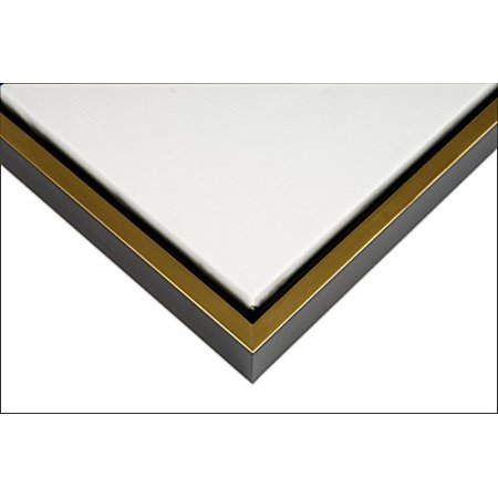 Illusions Solid Wood Floater Frame for 3/4 Inch Canvas 16X20 - Black & Gold, Floater Frames are the preferred way to frame canvas paintings. Each frame is.., By Creative Mark ()